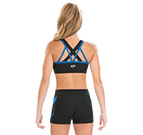 GK All Star Double Layer Crisscross Crop Top