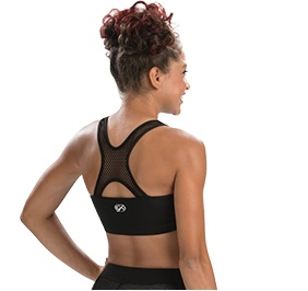 GK All Star Pop Mesh Open X Back Crop Top