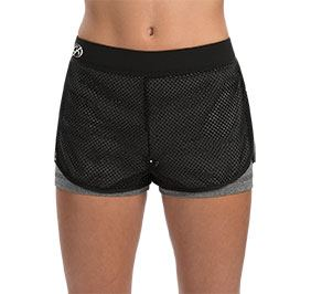 GK All Star Performance Grey Heather & Black Mesh Overlay Shorts