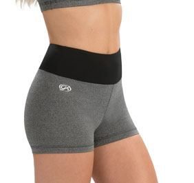 GK All Star Performance Grey Heather High Waisted Cheer Shorts