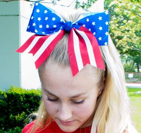 Chasse Patriotic Flag Bow