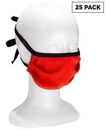 Face Mask with Ties - 25 Pack