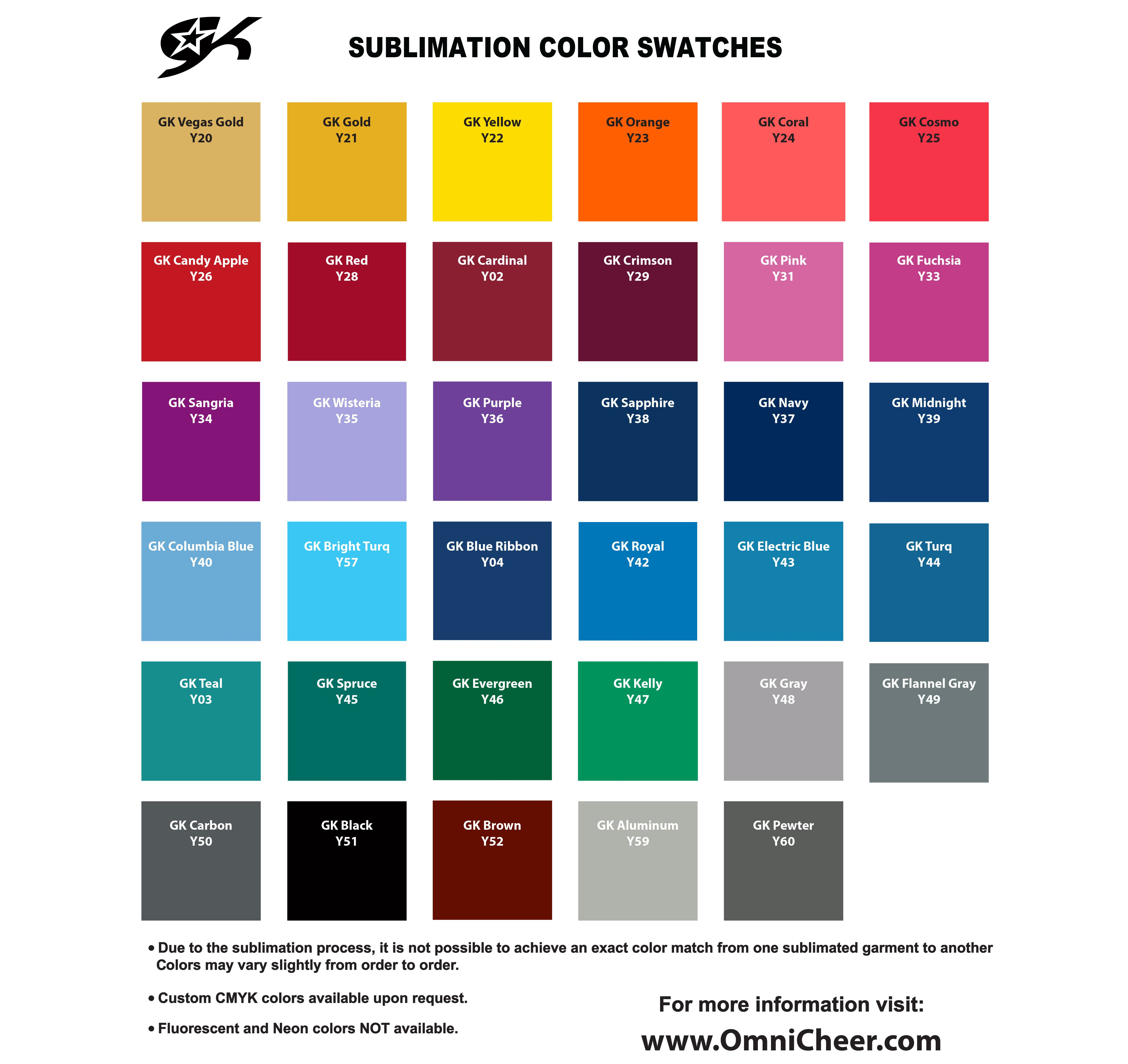GK Sublimation Fit Kit Swatch