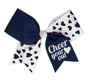 Chasse Glitter Hearts Performance Hair Bow