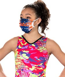 New Fit! Customizable Pleated Sublimated Face Mask
